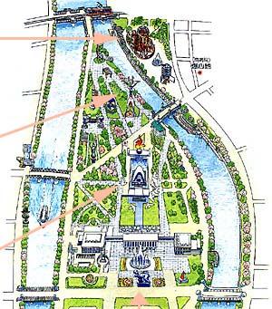 Map of Hiroshima Peace Park